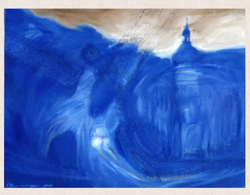 """Blue Lviv"", 60х80 2001"
